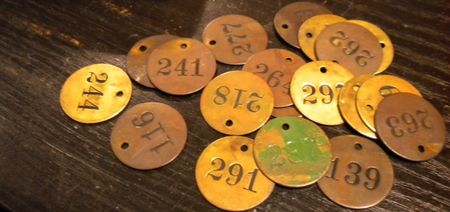 Brass tags