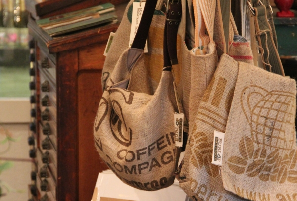 Burlap Boutique Bags At Found Found Whimsical Art